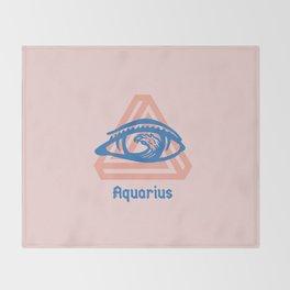 Aquarius Throw Blanket