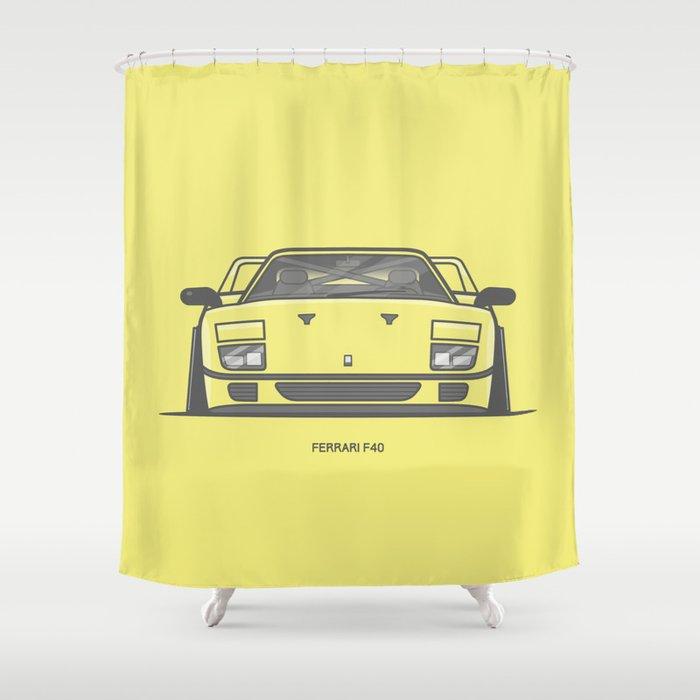 F40 Race Car Shower Curtain