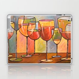 Whites and Reds ... abstract wine glass art, kitchen bar prints Laptop & iPad Skin