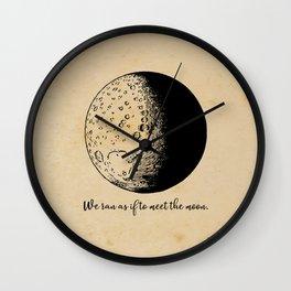 Robert Frost - Meet the Moon Wall Clock