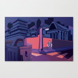 Federal City Lonely in the Night Canvas Print
