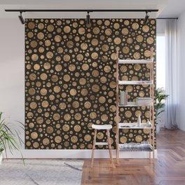 Polka Dot Chaos - Cracked Gold #2 Wall Mural