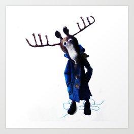 funny moose Art Print