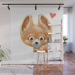 Super cute baby fox kawaii perfect for all animal lovers! Wall Mural
