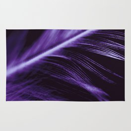 Purple Ultraviolet Feather close up Rug