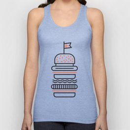 Big Burger Unisex Tank Top
