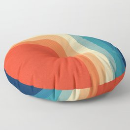 Retro 70s Color Palette III Floor Pillow