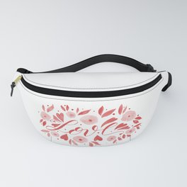 Love and flowers - living coral Fanny Pack