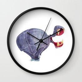 Hippopotamus Wall Clock