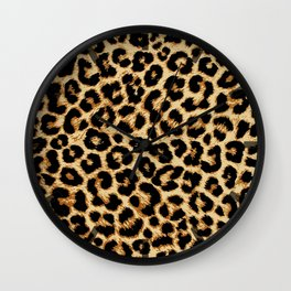 ReAL LeOparD Wall Clock