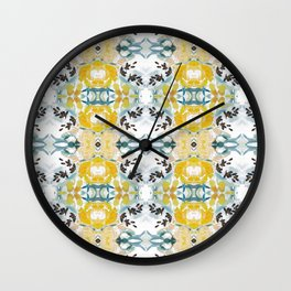 bee s flower tapestry Wall Clock