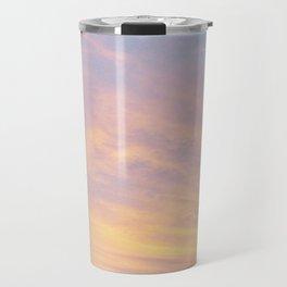 Blue Rose Yellow Sunrise Travel Mug