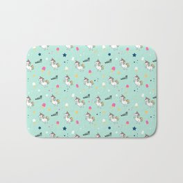 world of unicorns and ice cream Bath Mat