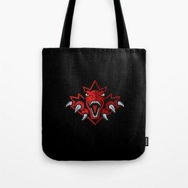Dino Red Leaf Tote Bag