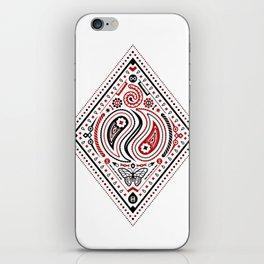 83 Drops - Diamonds (Red & Black) iPhone Skin