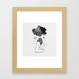 I prefer night. Framed Art Print