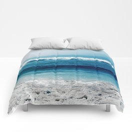 aqua foamy sea Comforters