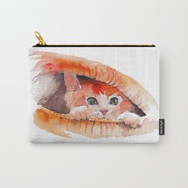 Ginger Kitten Watercolor Carry-All Pouch