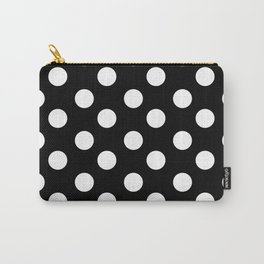Polka Dot (White & Black Pattern) Carry-All Pouch