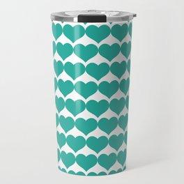 Mint heart pattern Travel Mug