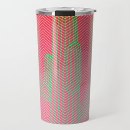 Deserted cactus - chevron pink Travel Mug