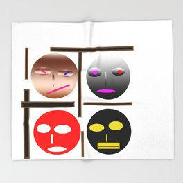 Wellcome the emojes Throw Blanket