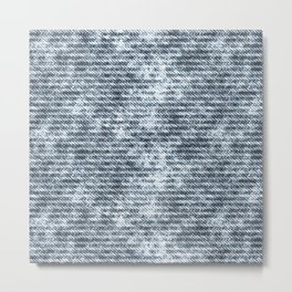Light Blue Jeans Denim Textures Metal Print