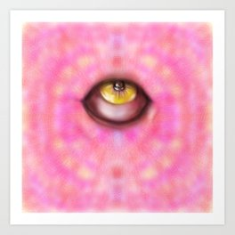 purple eye Art Print