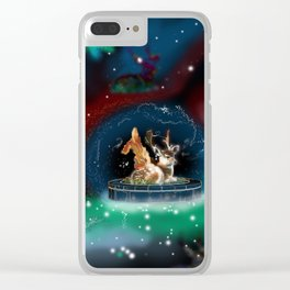Wing Deer Clear iPhone Case