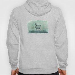 """Notches"" by Amber Marine ~ Indian River Lagoon dolphin art, watercolor painting, (Copyright 2013) Hoody"