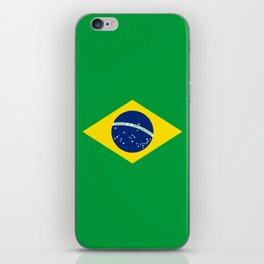 Brazil Flag Graphic Design iPhone Skin