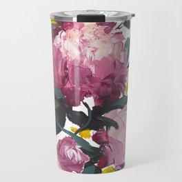 pivoine violette avec jaune Travel Mug