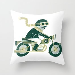 Motorbike Throw Pillow