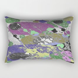 Stack Em Up! - Abstract, textured, pastel coloured artwork Rectangular Pillow