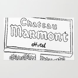 Chateau Marmont Sign Rug