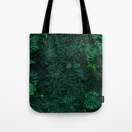 Fresh Tropical Greenery (Color) Tote Bag