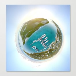 Tiny Planet Turks and Caicos Canvas Print