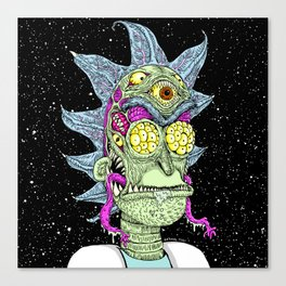 Monster Scientist Canvas Print
