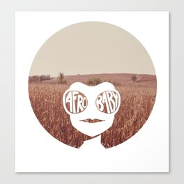 Grass Afro Canvas Print