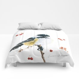 Christmas Chickadee by Teresa Thompson Comforters