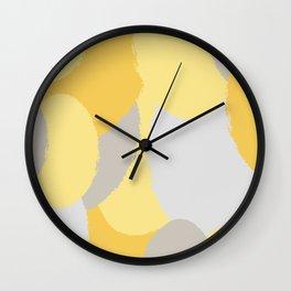 ROUND OF YELLOW Wall Clock