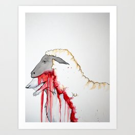 Wolf In Sheep Skin Art Print
