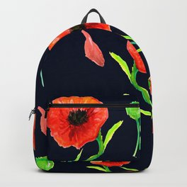 Red Poppies Field Backpack