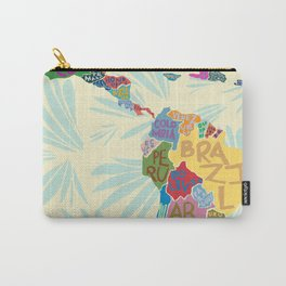 Map. Mapa. Carte. Carry-All Pouch