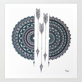 Soulmates Mandala Art Print