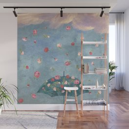 I Wished for a Rose Rain for You Wall Mural
