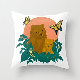 ABC in the Forest Throw Pillow