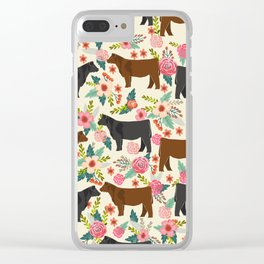 Angus cattle farm friendly gifts perfect for homesteader homestead lover Clear iPhone Case