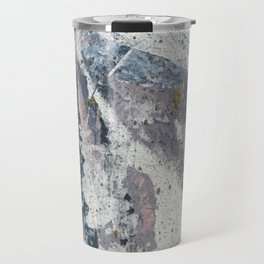 To the Mountains: a minimal abstract mixed-media piece by Alyssa Hamilton Art Travel Mug