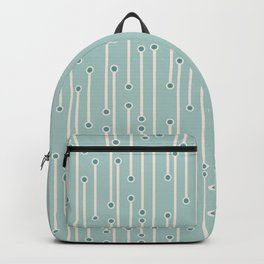 Dotted lines in cream, teal and sea foam Backpack